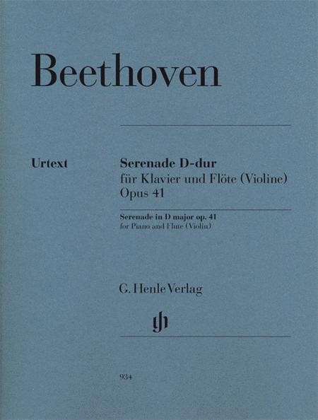 Serenade for Piano and Flute (Violin) op. 41