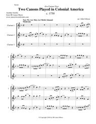 Two Canons Played in Colonial America - clarinet trio