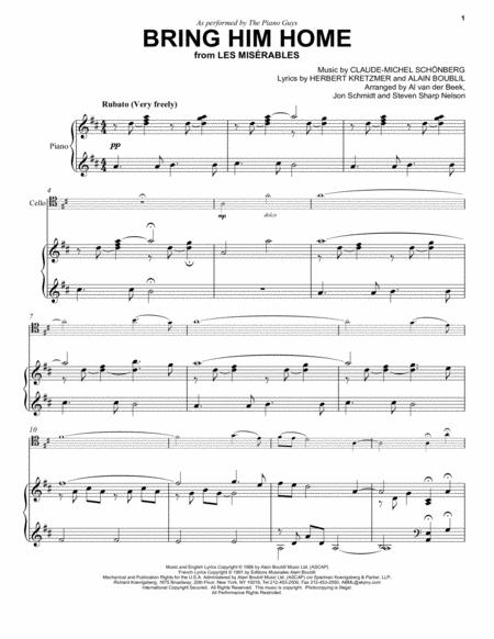 Download Bring Him Home Sheet Music By Alain Boublil - Sheet