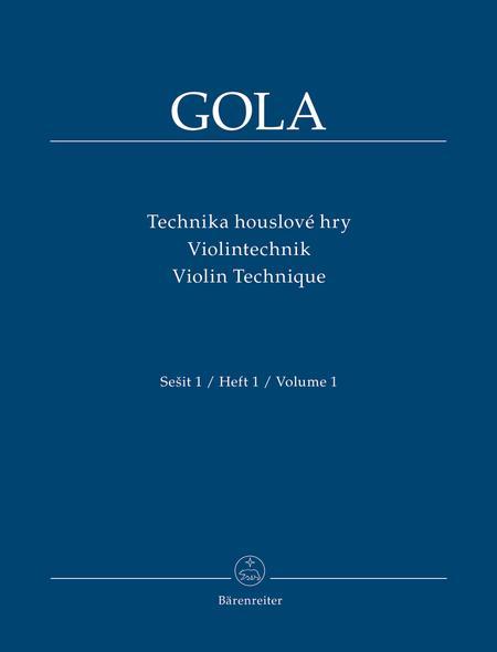 Violin Technique, Volume 1