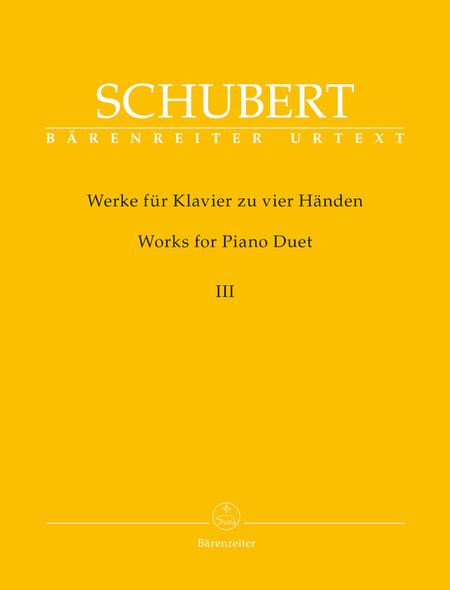 Works for Piano Duet (Four Hands-One Piano), Volume 3