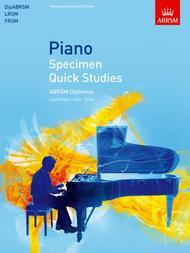 Piano Specimen Quick Studies
