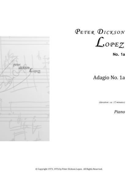 Adagio No. 1: No. 1a (Piano)