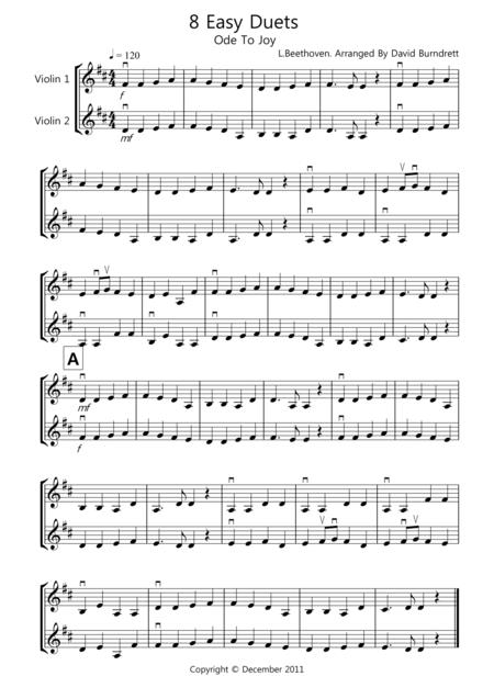 8 Easy Duets for Violin