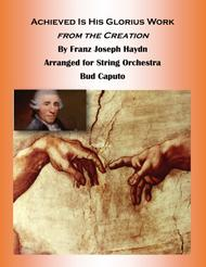 Achieved HIs Glorius Work for String Orchestra Score and Parts