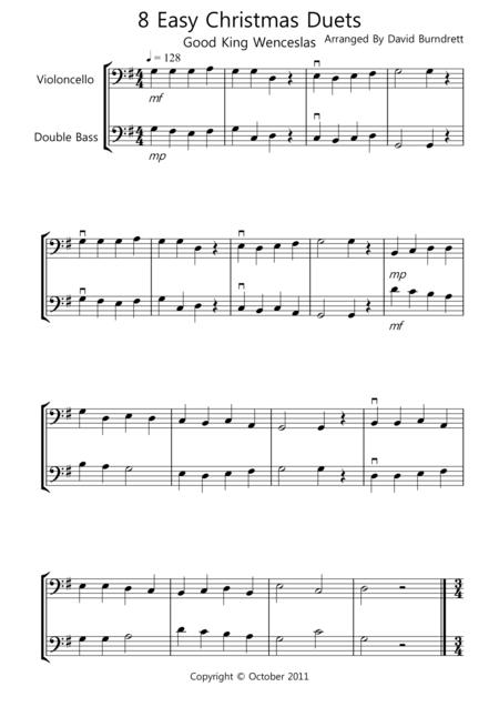 8 Christmas Duets for Cello And Double Bass