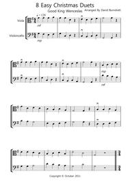 8 Christmas Duets for Viola And Cello