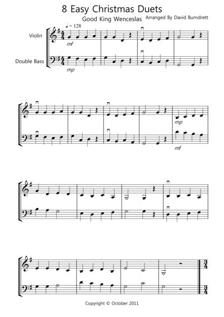 8 Christmas Duets for Violin And Double Bass