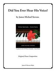 Did You Ever Hear His Voice