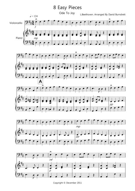 8 Easy Pieces for Cello And Piano