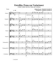Twinkle Twinkle Little Star (Theme and Variations) For String Orchestra