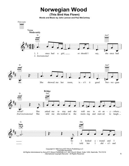 Download Norwegian Wood (This Bird Has Flown) Sheet Music By The ...