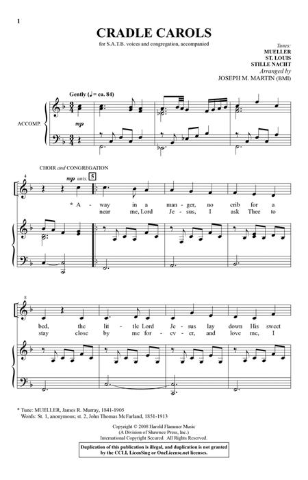 Cradle Carols (from Carols For Choir And Congregation)