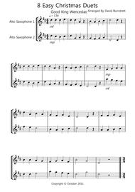 8 Easy Christmas Duets for Alto Saxophone