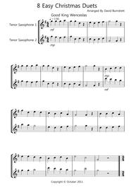 8 Easy Christmas Duets for Tenor Saxophone