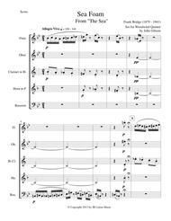 Frank Bridge - Sea-Foam set for woodwind quintet