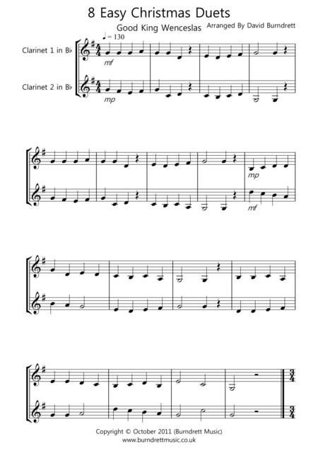 8 Christmas Duets for Clarinet