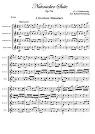Overture Miniature from The Nutcracker (Clarinet Quartet)