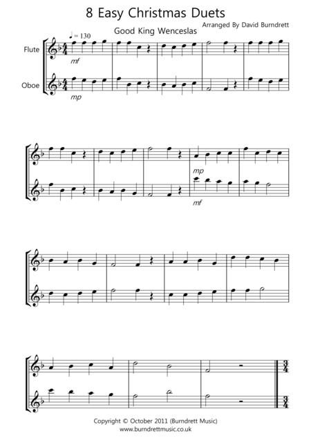 8 Christmas Duets for Flute And Oboe