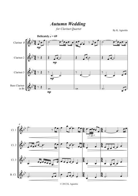 Autumn Wedding - for Clarinet Quartet