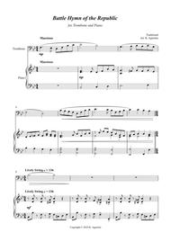 Battle Hymn of the Republic - a Jazz Arrangement - for Trombone and Piano