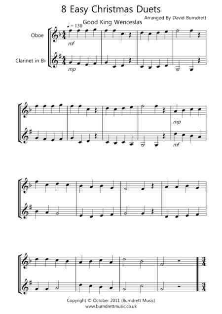 8 Christmas Duets for Oboe And Clarinet
