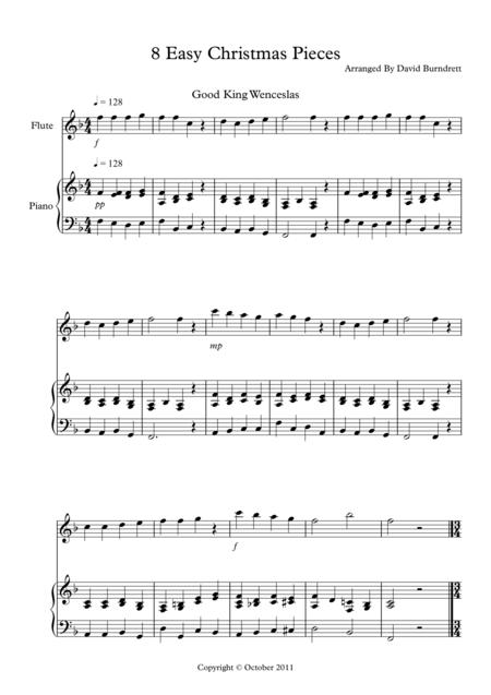 8 Christmas Pieces for Flute And Piano