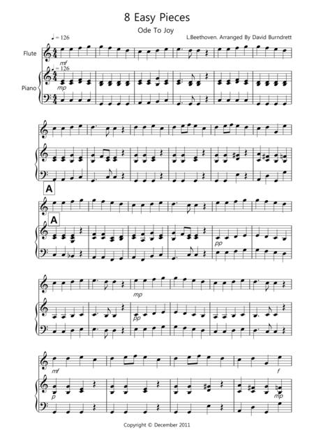 8 Pieces for Flute And Piano