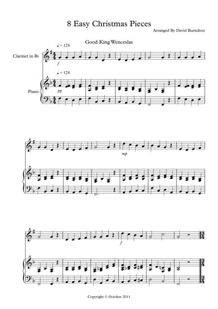 8 Christmas Pieces for Clarinet And Piano