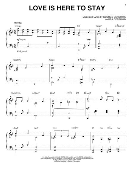 Love Is Here To Stay [Jazz version] (arr. Brent Edstrom)