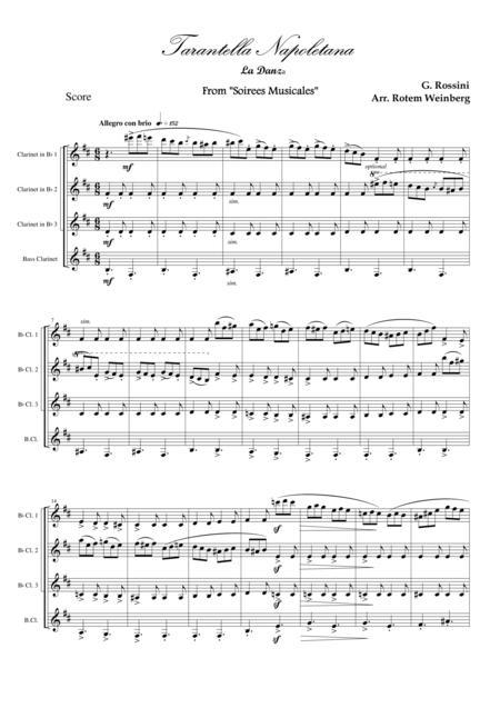 Tarantella Napoletana, La Danza (Clarinet Quartet)