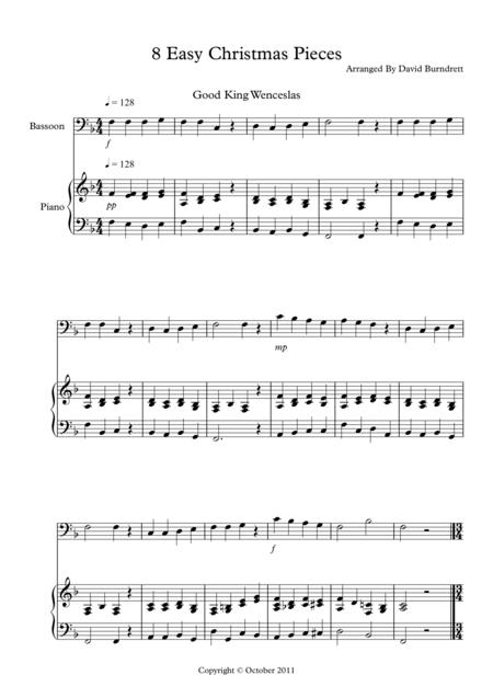 8 Christmas Pieces for Bassoon And Piano