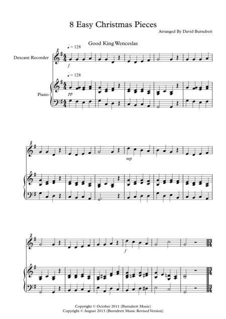 8 Christmas Pieces for Descant Recorder And Piano