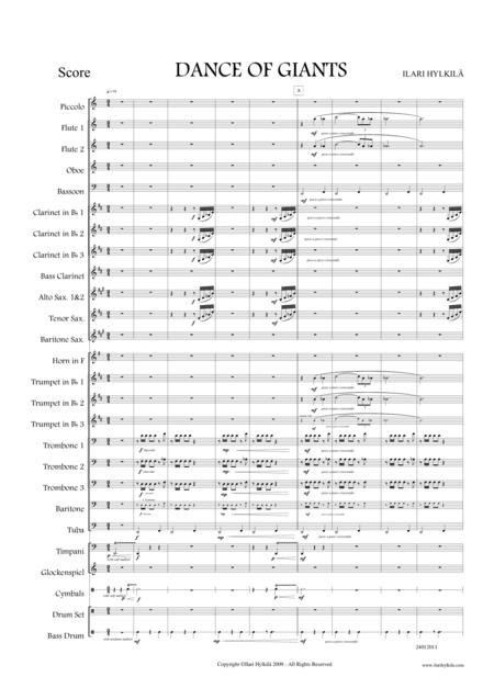 DANCE OF GIANTS for Concert Band