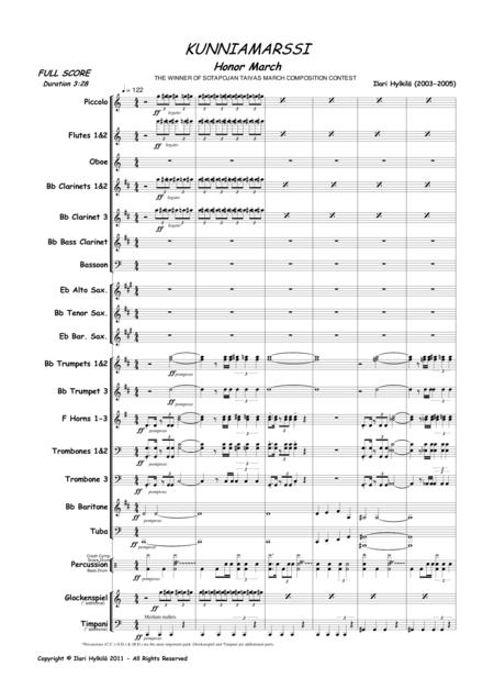 Honor March (for Concert Band)