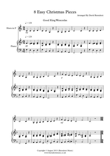8 Christmas Pieces for French Horn And Piano
