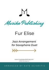 Fur Elise - Jazz Duet for A/T Saxophones