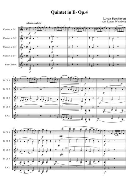 Quintet in Eb Op.4 mvmt.1 - Beethoven (Clarinet Quintet)