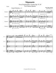Amy Beach - Mignonette set for clarinet quartet