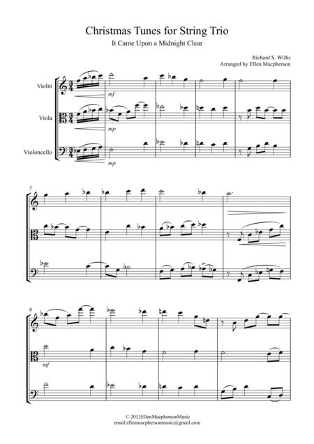 Christmas Tunes for String Trio -