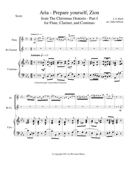 Bach - Aria from The Christmas Oratorio for flute and clarinet duet