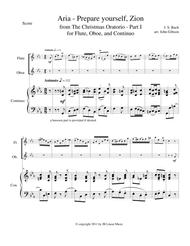 Bach - Aria from The Christmas Oratorio for flute and oboe duet