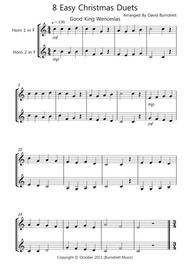 8 Christmas Duets for Horn In F