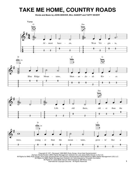 Download Take Me Home, Country Roads Sheet Music By John Denver ...