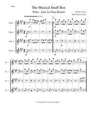 Musical Snuff Box by Lyadov for flute quartet