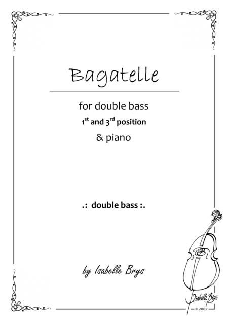 Bagatelle for Double Bass and Piano