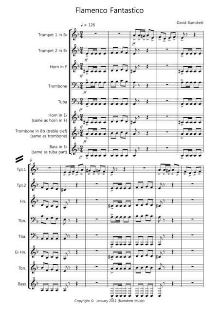 Flamenco Fantastico for Brass Quintet