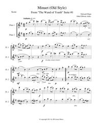 Minuet (Old Style) by Elgar for woodwind duets