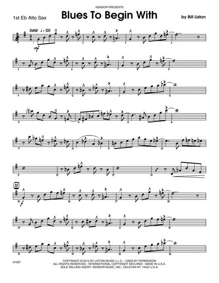 Blues To Begin With - Alto Sax 1