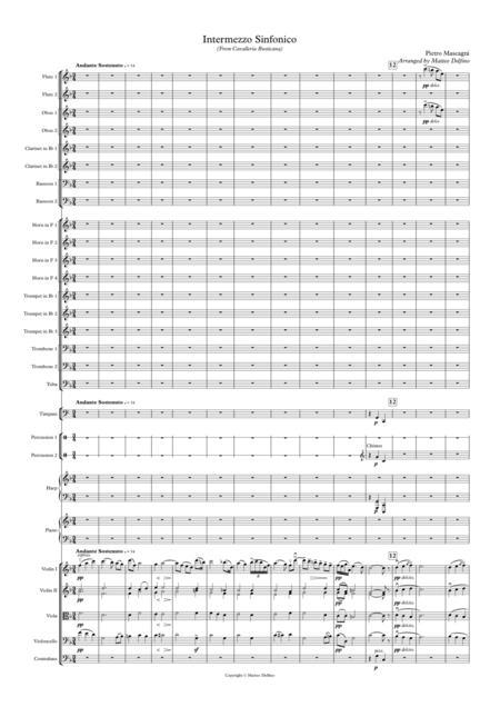 Intermezzo (From Cavalleria Rusticana) [Full Orchestra]